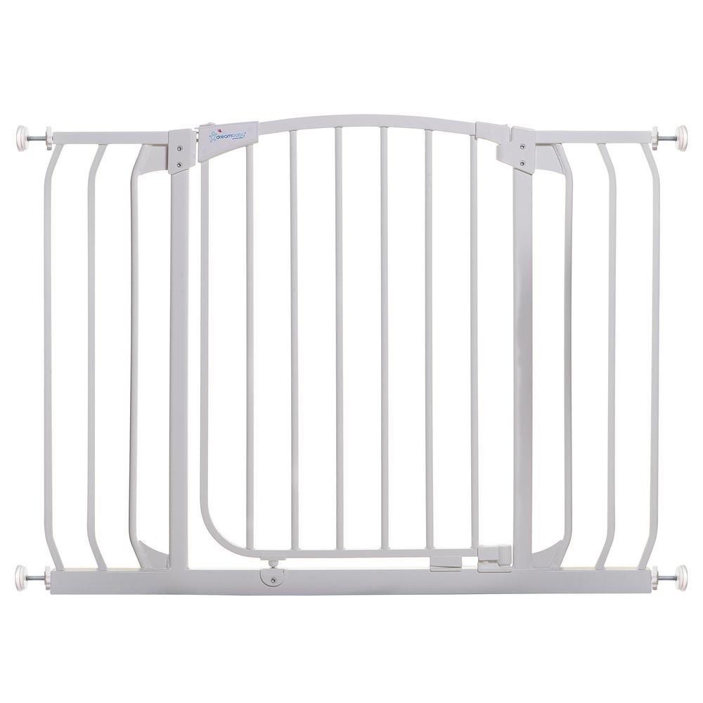 Gate Extension 7 in Steel for White Chelsea Standard Height Child Safety Gate
