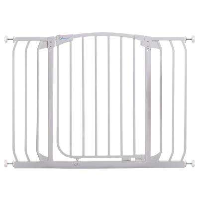 Chelsea 29.5 in. H Standard Height and Extra Wide Auto-Close Security Gate in White