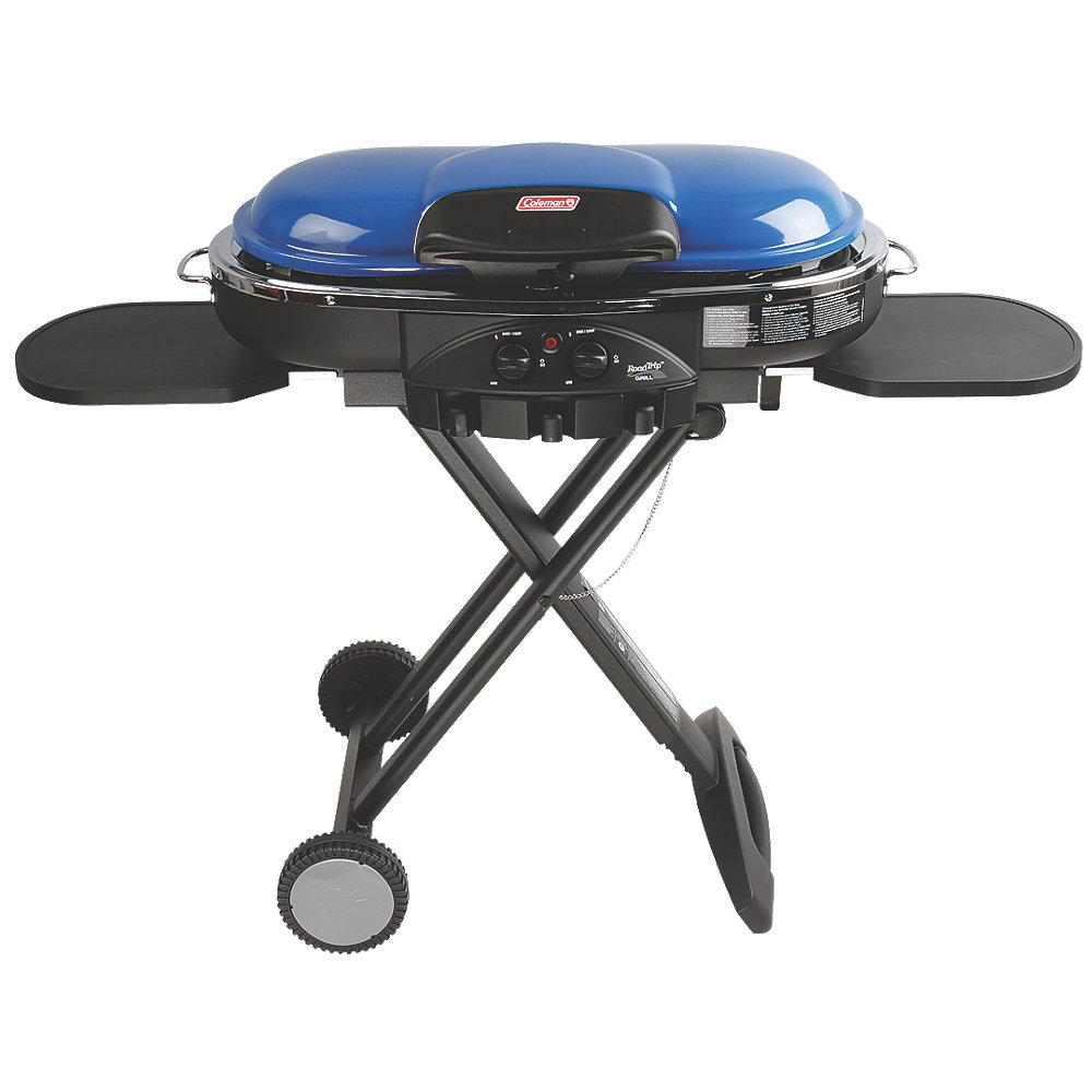 Coleman RoadTrip LXE 2 Burner Portable Propane Grill in Blue Coleman RoadTrip LXE 2 Burner Portable Propane Grill in Blue