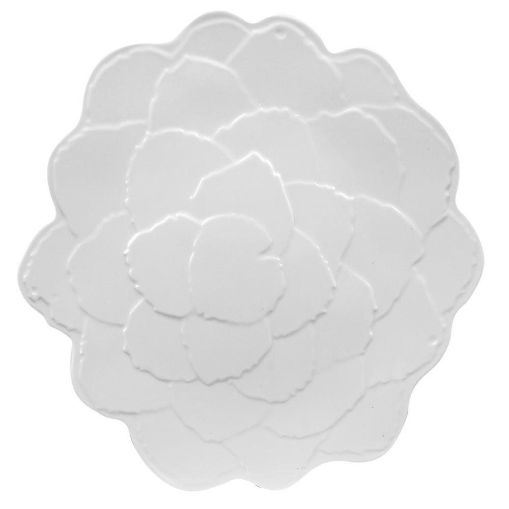 Botanical Porcelain White Melamine Galax Leaf Platter