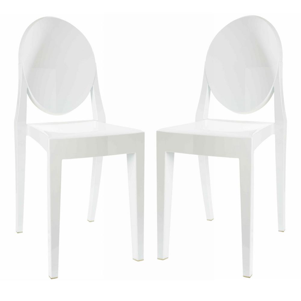 Burton White Side Chair (Set of 2)