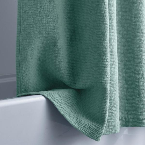 The Company Store 72 in. Spa Green Shower Curtain