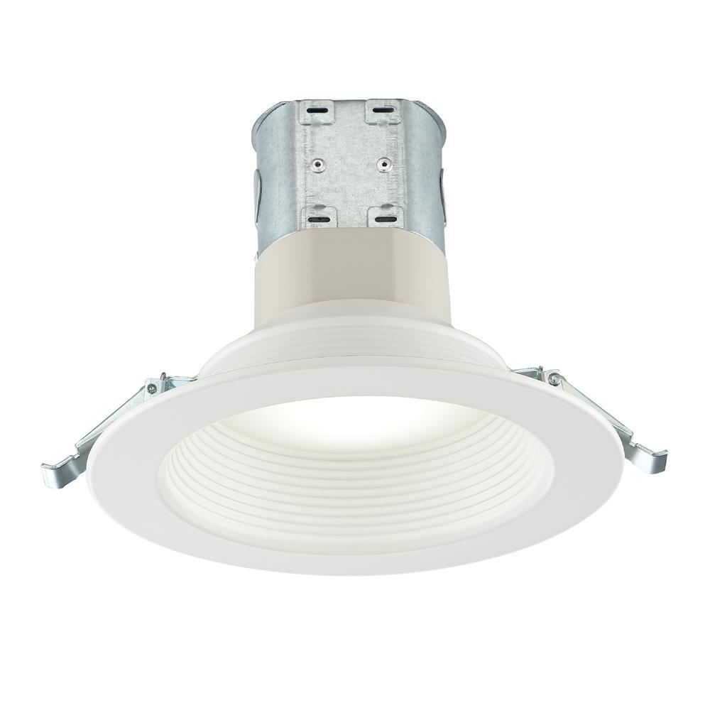 Commercial Electric Easy Up 6 In Deep Baffle Color Selectable Canless Led Recessed Kit