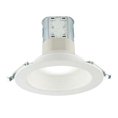 Easy-Up 6 in. Deep Baffle Color Selectable Canless LED Recessed Kit