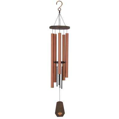 Precision-Tuned Echo 40 in. Aluminum and Steel Double Wind Chime - Bronze