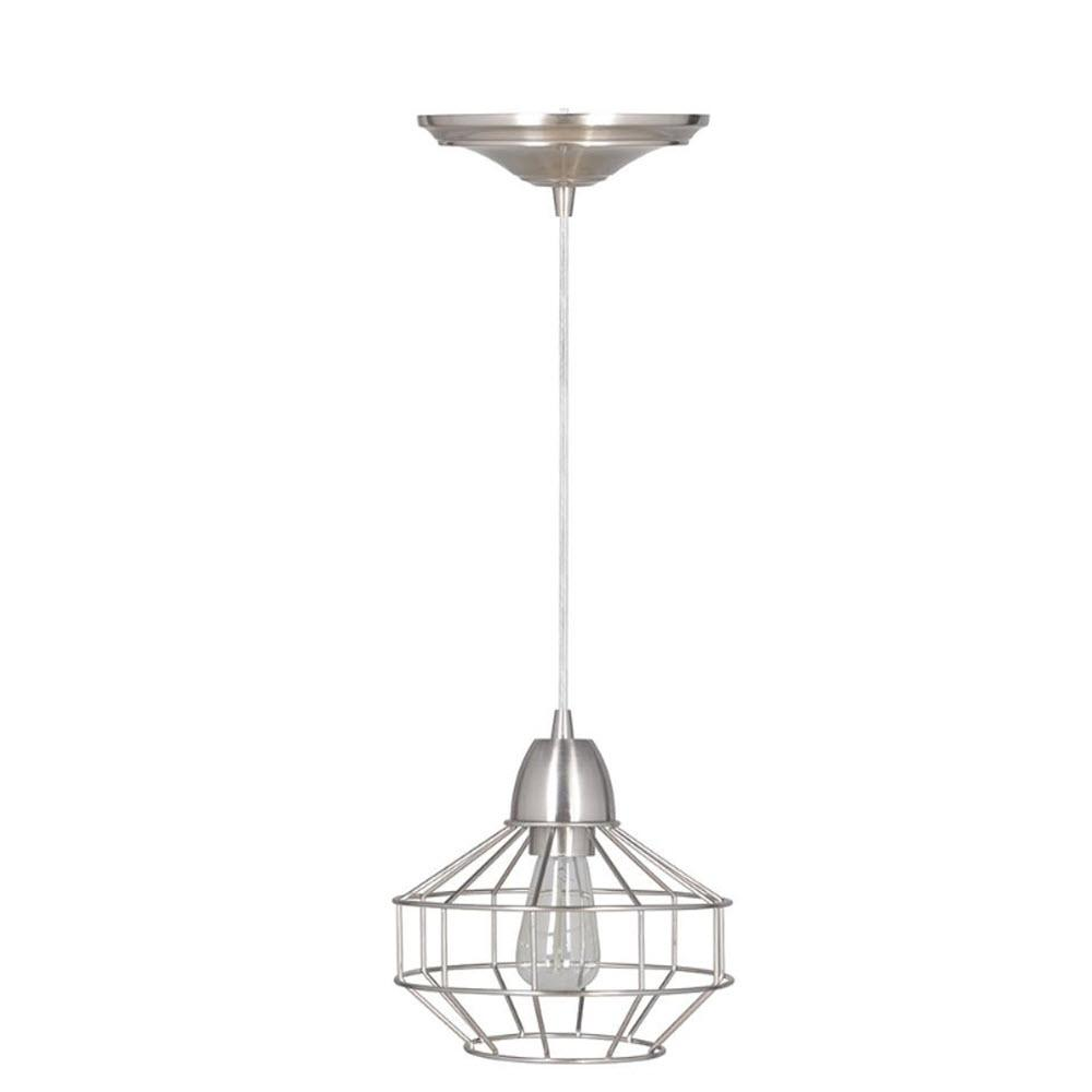 Halo 1-Light Brushed Nickel Hardwire Pendant