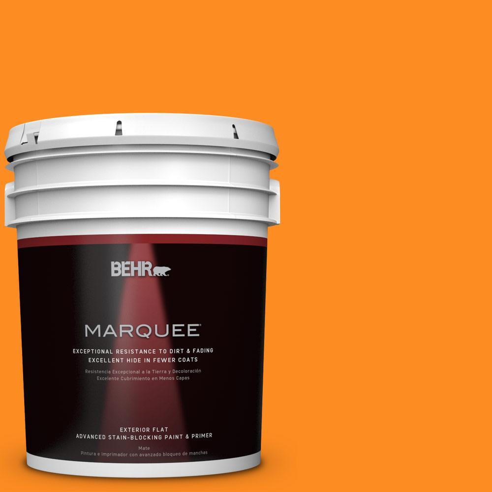 5-gal. #S-G-280 Mango Madness Flat Exterior Paint