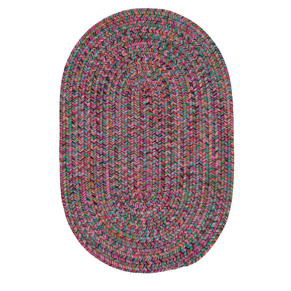 Home Decorators Collection Dessi Jewel Multi 6 Ft X 6 Ft Braided Indoor Outdoor Round Area Rug