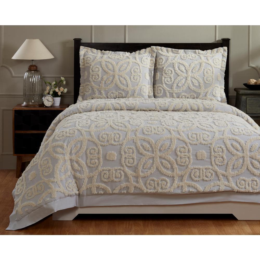 Better Trends Eden Grey/Ivory Full/Queen Comforter SS-QUEDQFGRIV