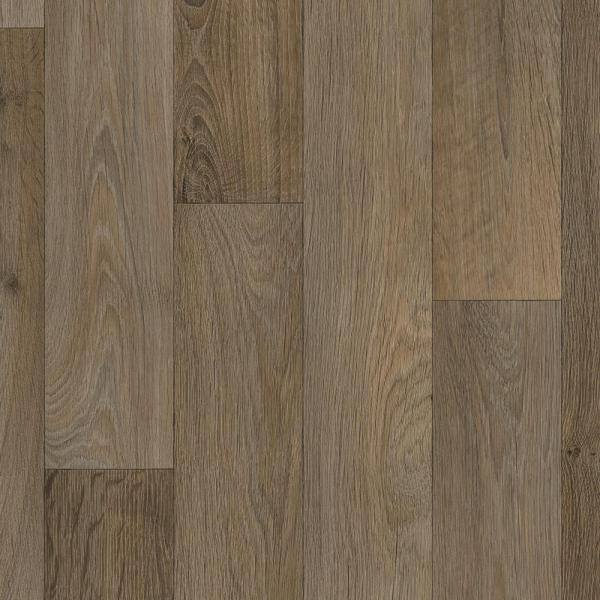 Greyed Oak Wood Residential Vinyl Sheet Flooring 12 ft. Wide x Cut to Length