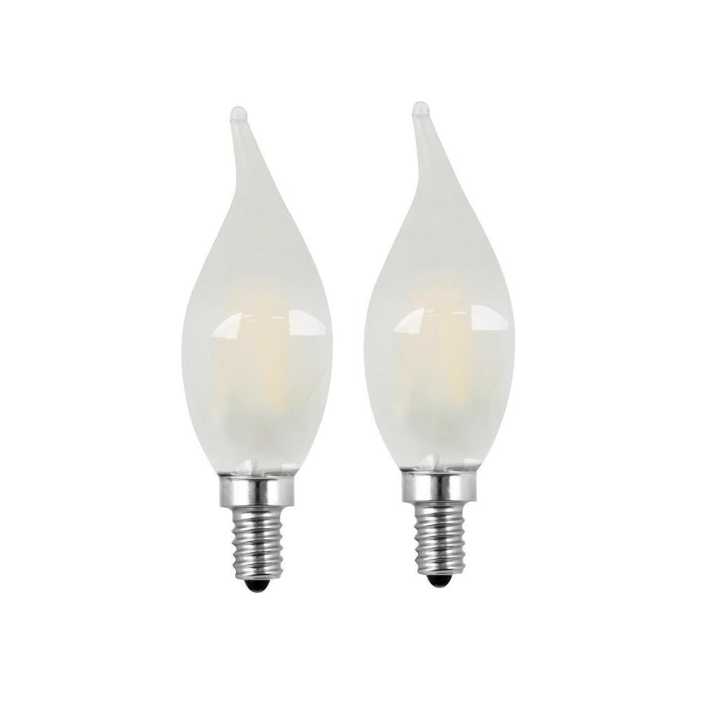 Led Candelabra Bulbs 60w: Feit Electric 60W Equivalent Soft White (2700K) CA10