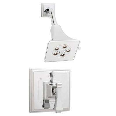 Rainier 1-Handle Pressure Balance Shower Faucet Trim Kit in Polished Chrome (Valve Not Included)