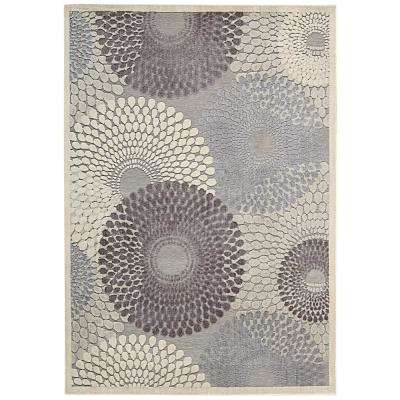 Graphic Illusions Grey 5 ft. x 7 ft. Area Rug