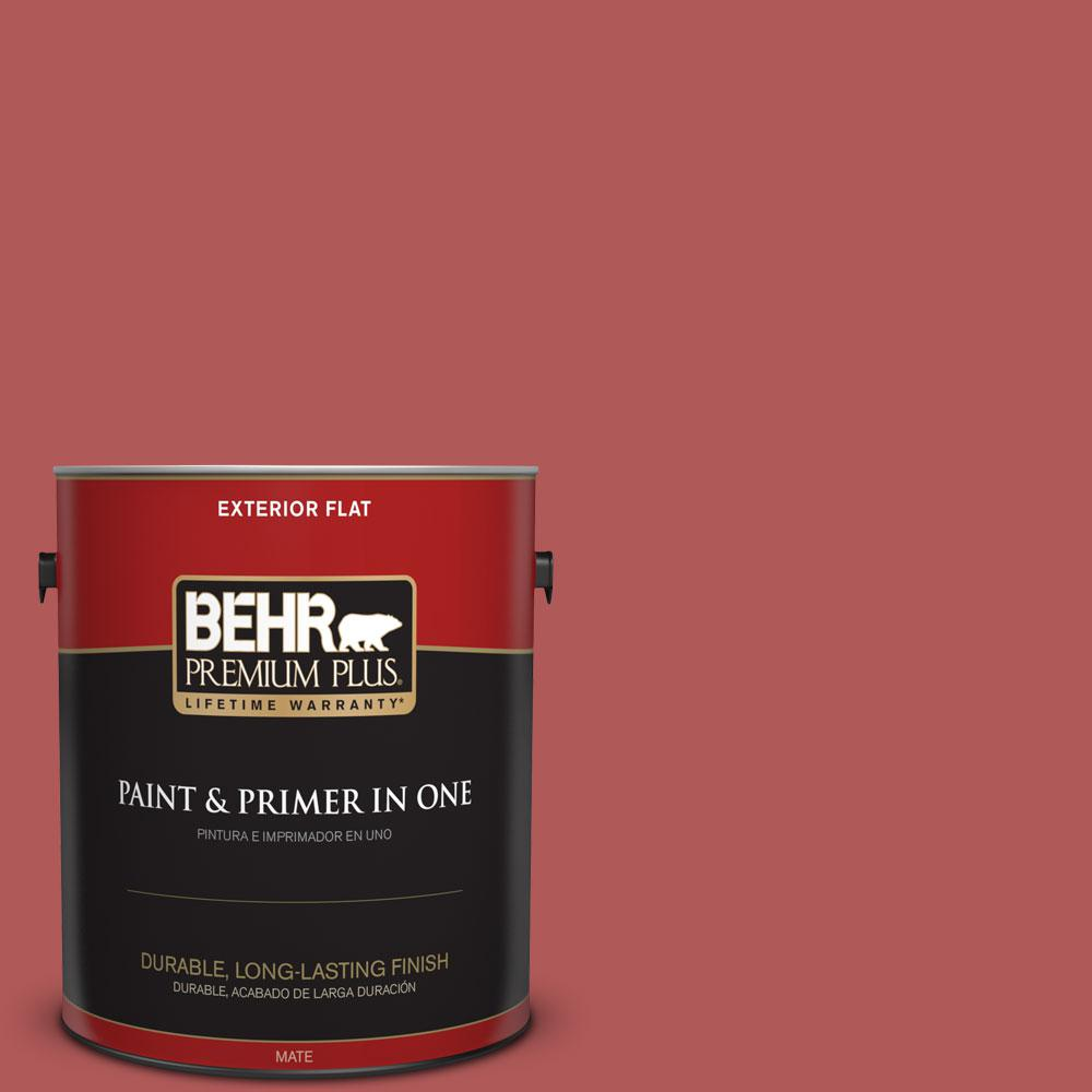 1-gal. #160D-6 Pottery Red Flat Exterior Paint
