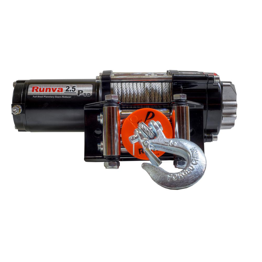2,500 lbs. Capacity 12-Volt Electric Winch with 46 ft. Steel Cable
