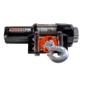 Runva 2,500 lbs. Capacity 12-Volt Electric Winch with 46 ft. Steel Cable Super Deluxe Package by Runva