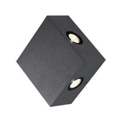 Pike Collection 4-Light Graphite Grey Outdoor LED Wall Mount