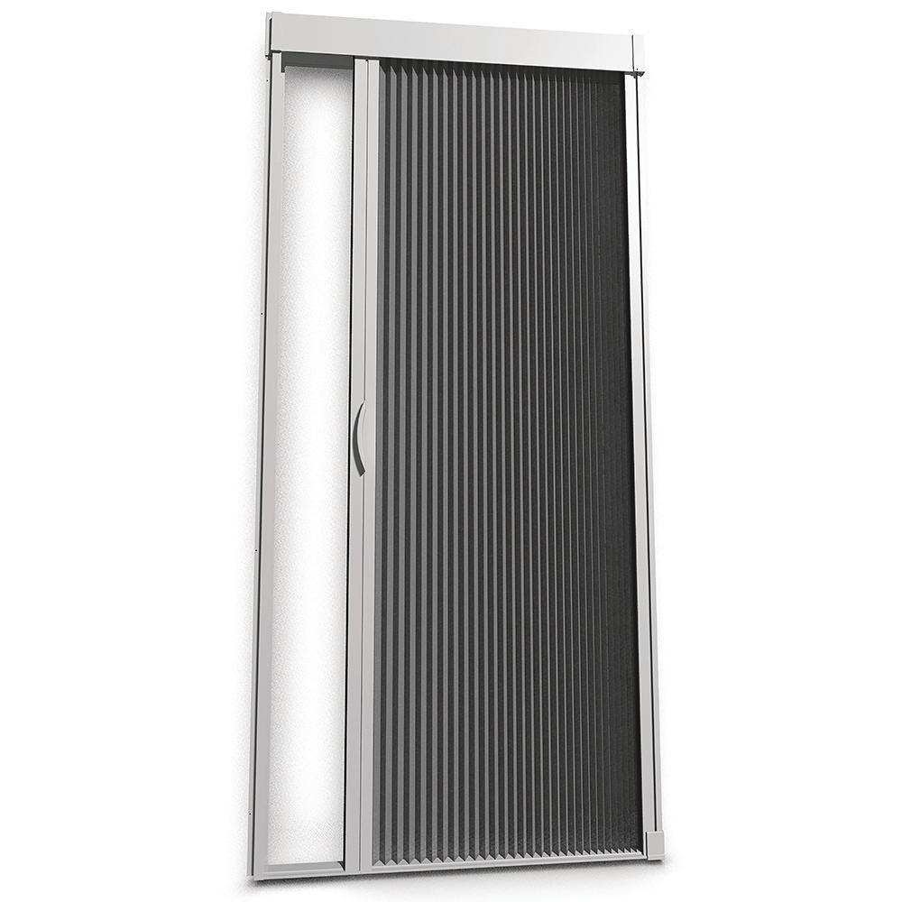 Inspire 39 in. x 81 in. White Aluminum Retractable Screen Door