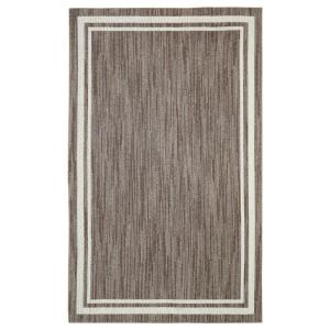 Border Loop Taupe Cream 8 ft. x 10 ft. Area Rug by