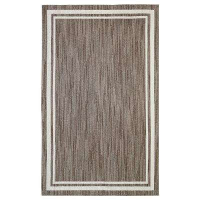 Border Loop Taupe Cream 8 ft. x 10 ft. Area Rug