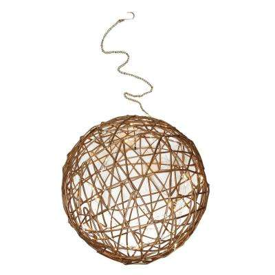 10 in. Warm White LED Lighted Wire Ball Christmas Ornament