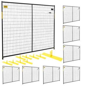 Perimeter Patrol 6 ft. x 58 ft. 8-Panel Black Powder-Coated Welded Wire Temporary Fencing by Perimeter Patrol