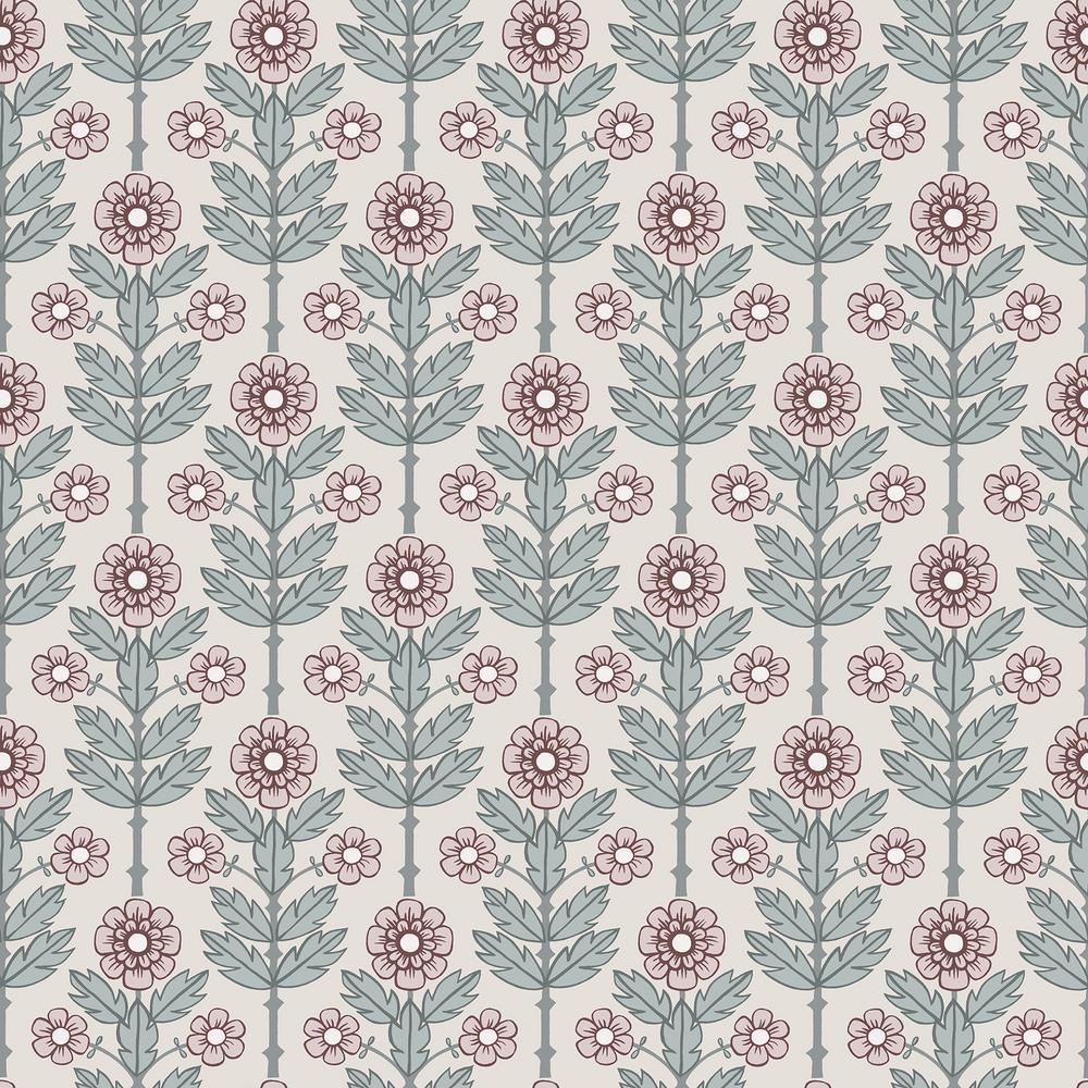 Aya Eggshell Floral Wallpaper
