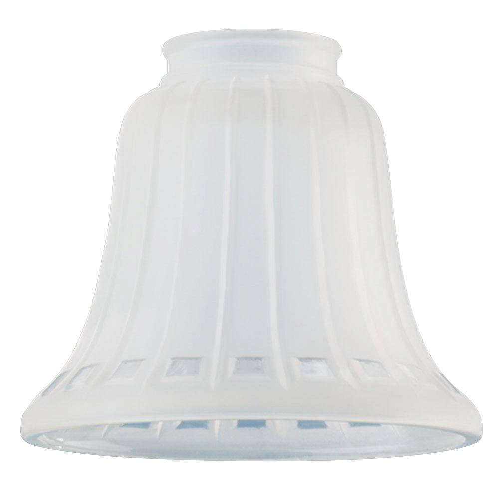 4-5/8 in. Frosted Bell with Clear Square Design with 2-1/4 in.
