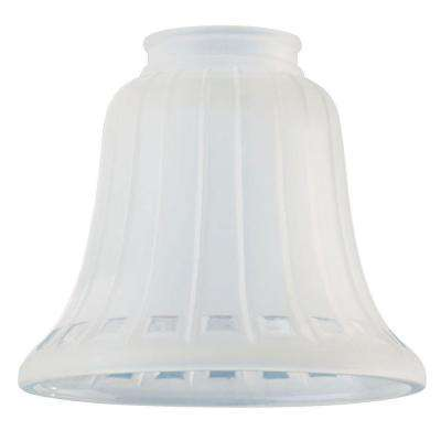 4-5/8 in. Frosted Bell with Clear Square Design with 2-1/4 in. Fitter and 5-3/8 in. Width