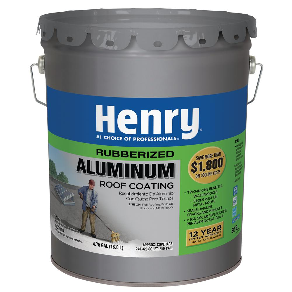 Henry 4 75 Gal 869 Rubberized Aluminum Reflective Roof