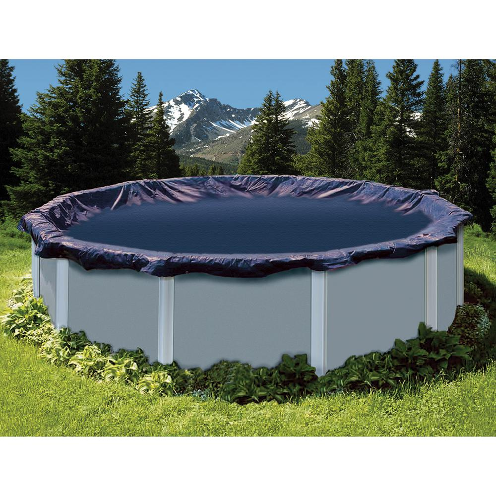 Swimline 20 ft. x 36 ft. Oval Blue Above Ground Deluxe Winter Pool Cover