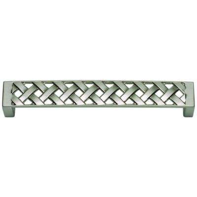 Lattice Collection 5.3 in. Brushed Nickel Large Pull