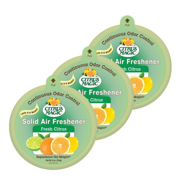 Citrus Magic 8 oz. Fresh Citrus Solid Odor Absorbing Air Freshener (3-Pack)