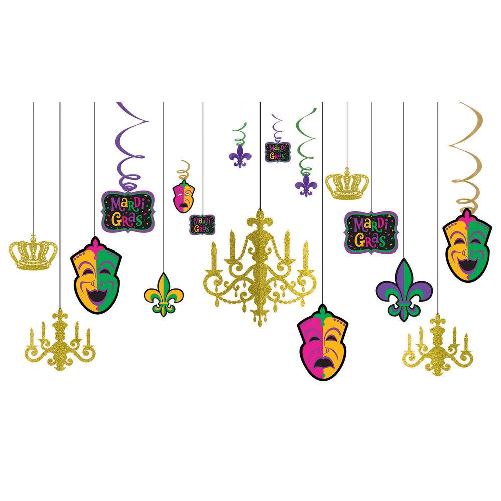 Mardi Gras Chandelier Decorating Kit (2-Pack)