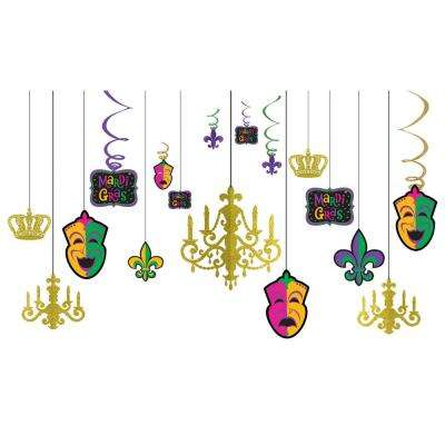 Mardi Gras Chandelier Decorating Kit (2-Pack)