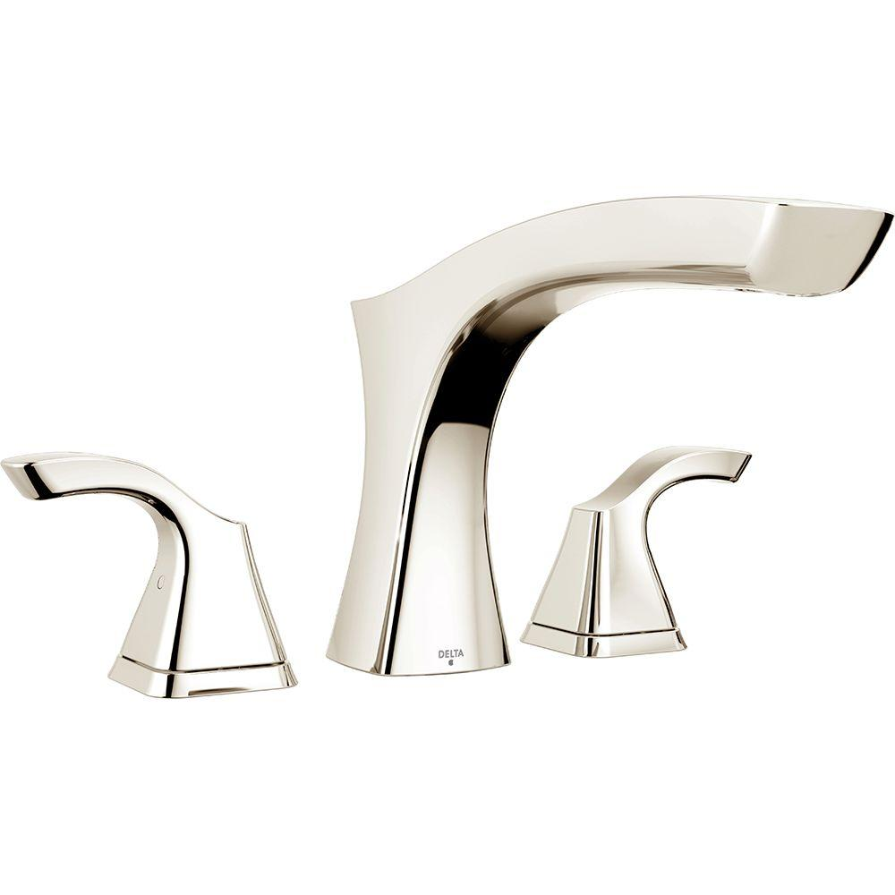 Delta Tesla 2-Handle Deck-Mount Roman Tub Faucet Trim Kit in ...