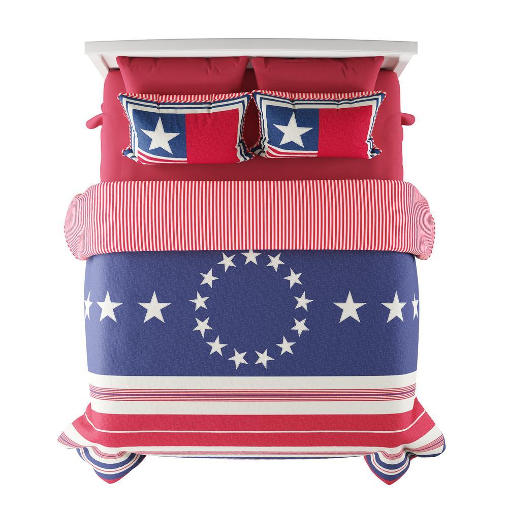 3-Piece Glory Bound Full/Queen Hypoallergenic Quilt Bedspread Set