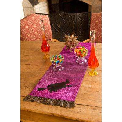 0.5 in. H x 13 in. W x 108 in. D Witching Hour Halloween Table Runner