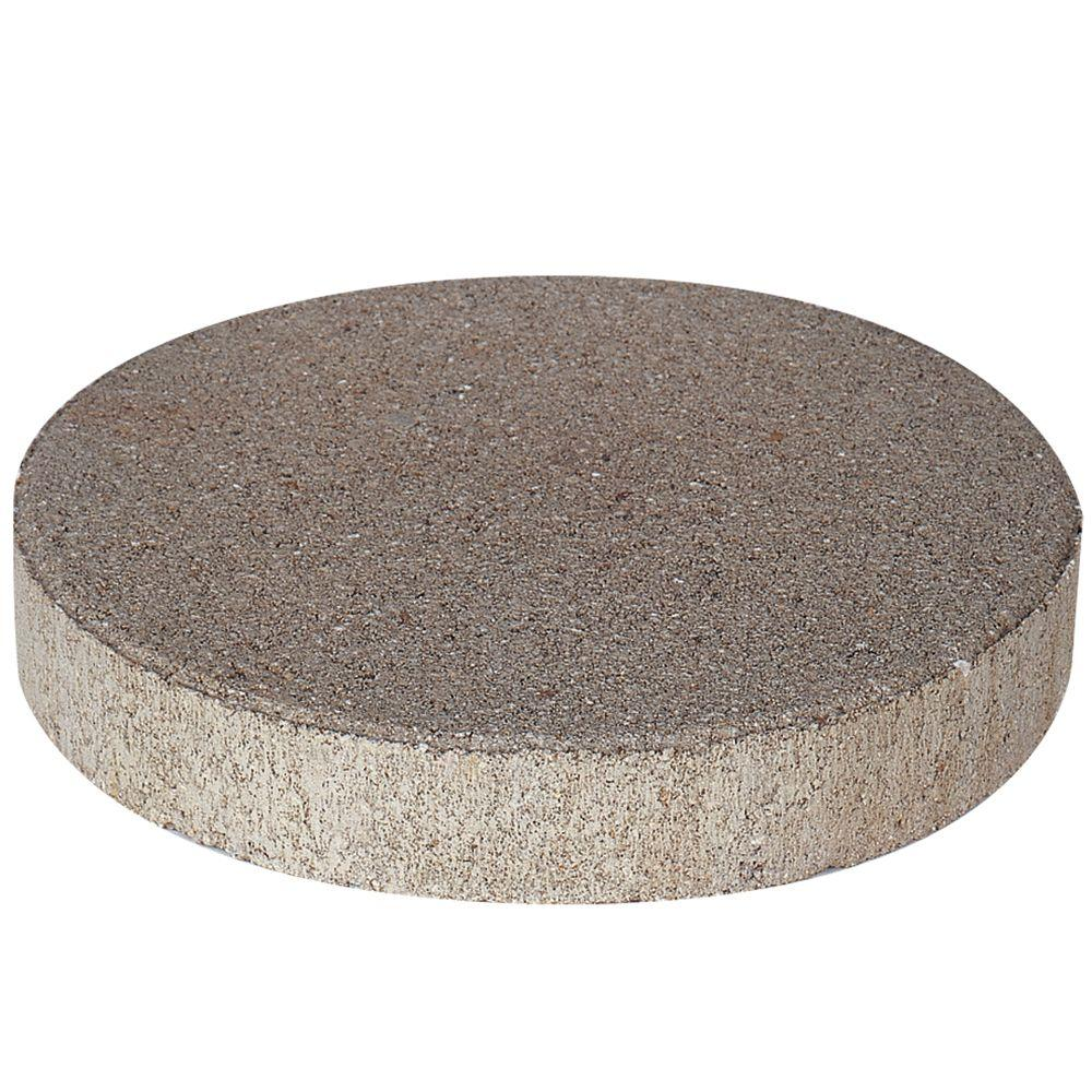 Pavestone 12 In X 12 In X 1 75 In Pewter Round Concrete