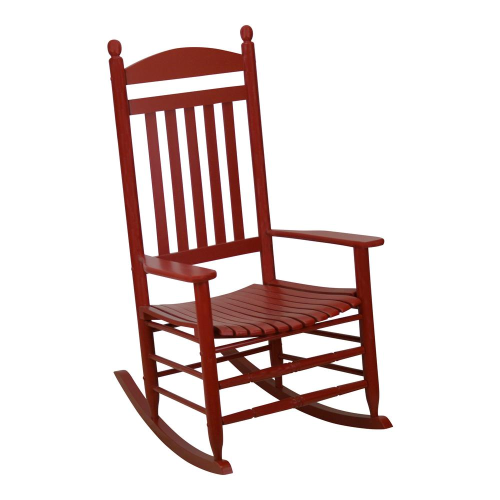 Bradley Slat Chili Patio Rocking Chair
