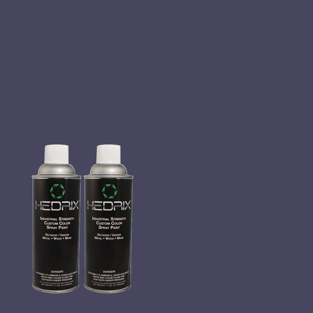 Hedrix 11 oz. Match of S-H-620 Midnight Sky Flat Custom Spray Paint (2-Pack)