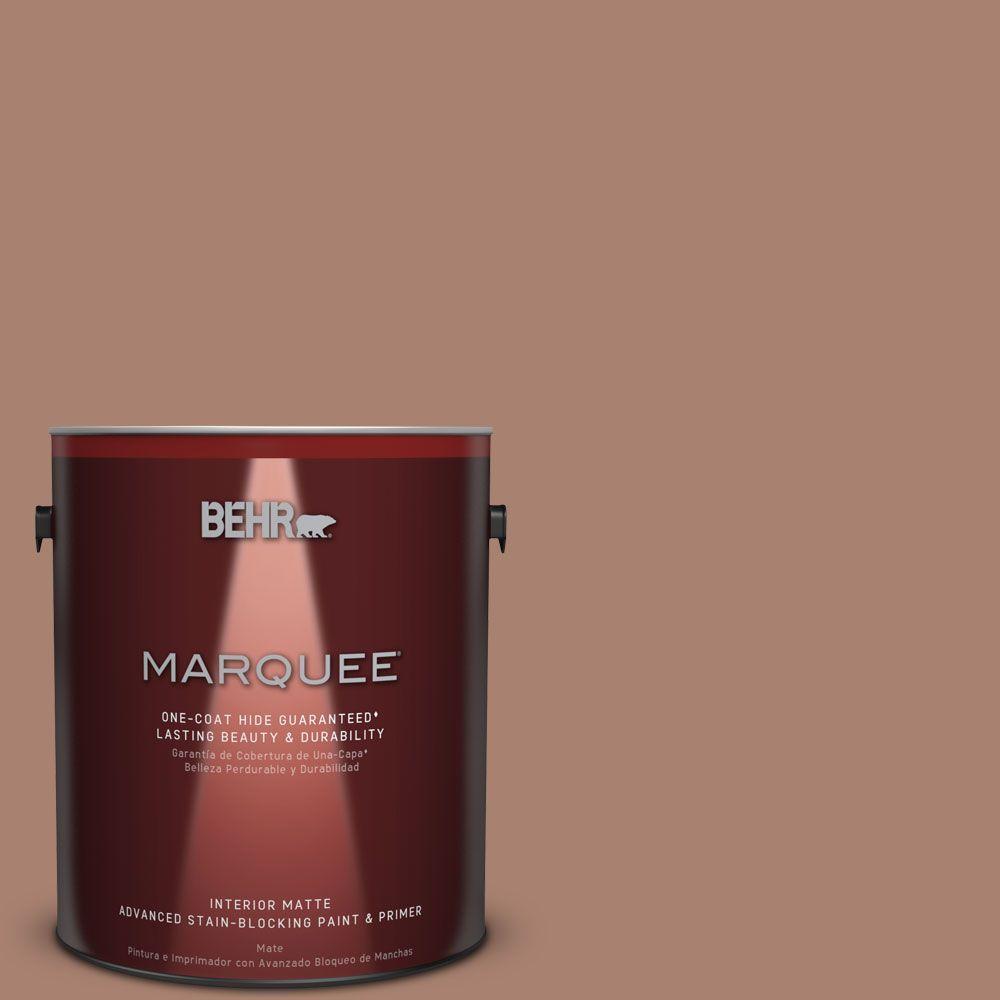 1 gal. #S190-5 Cocoa Nutmeg One-Coat Hide Matte Interior Paint