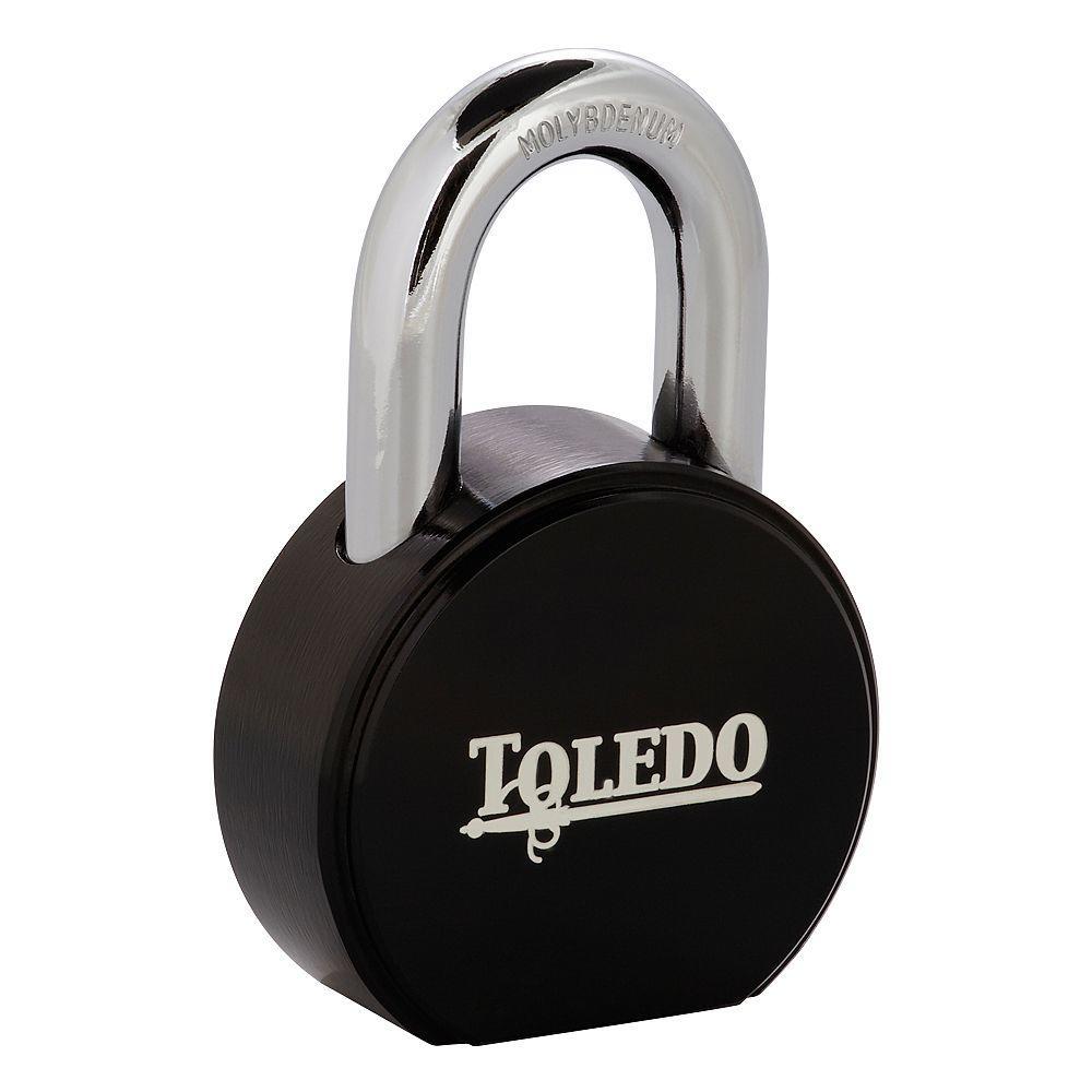 Toledo Black Series Super Duty Solid Steel Padlock with Black Electric-Coating by Toledo Black Series
