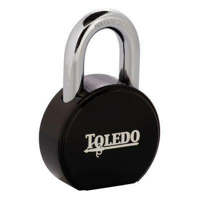 Super Duty Solid Steel Padlock with Black Electric-Coating