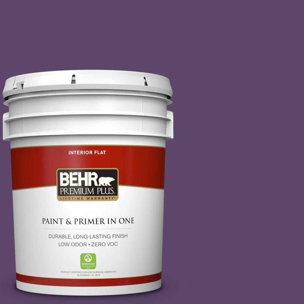 5 gal. #660D-7 Blackberry Farm Zero VOC Flat Interior Paint