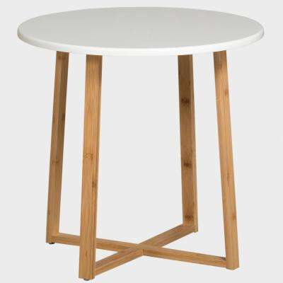 White Short Display Table