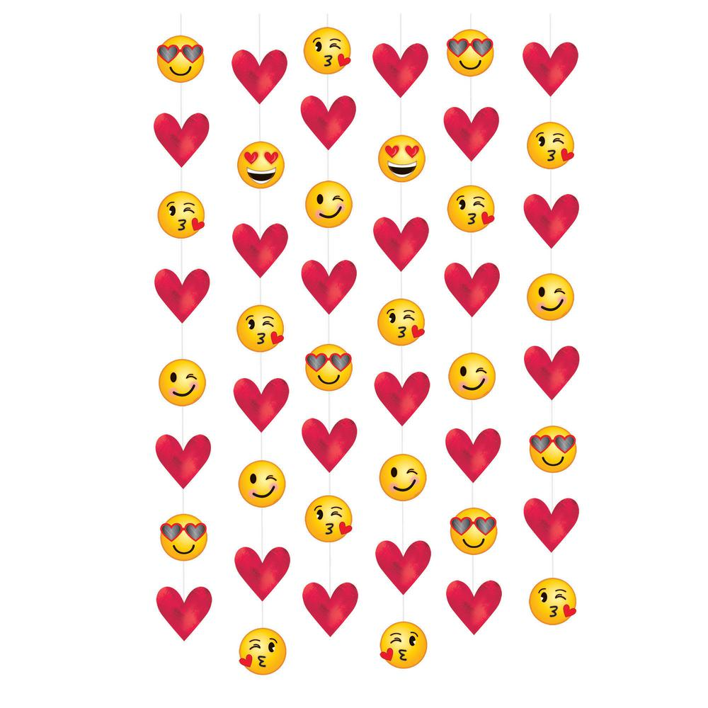 Amscan 84 In Valentine S Day Emoji String Decorations 6 Count 3