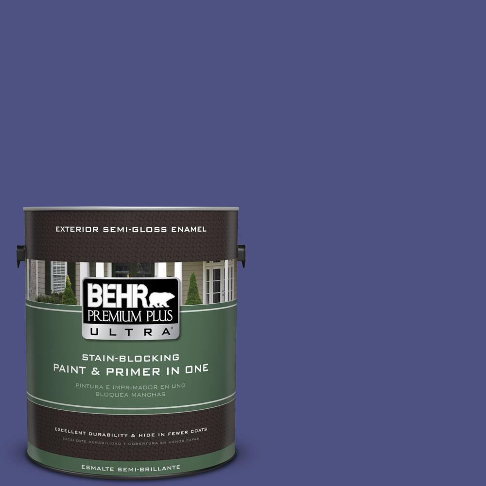 BEHR Premium Plus Ultra 1-gal. #PPU15-2 Mozart Semi-Gloss Enamel Exterior Paint