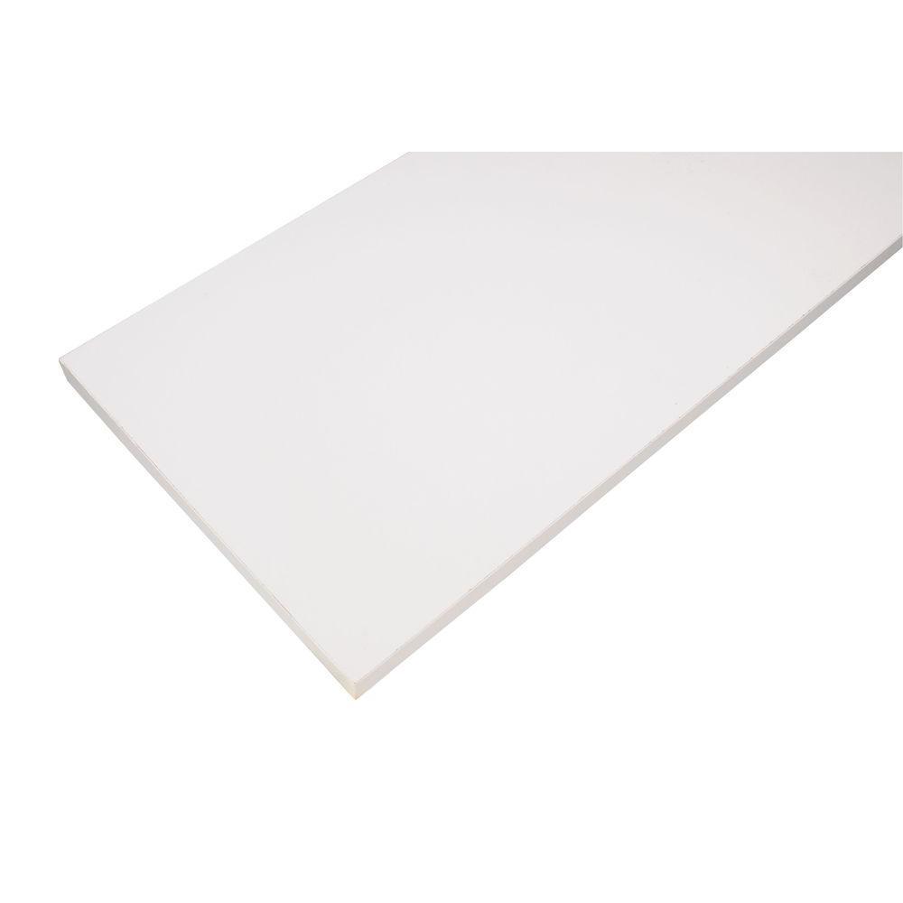 White Laminated Wood Shelf 12 in. D x 48 in. L