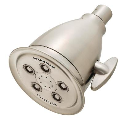 3-Spray 4.1 in. Single Wall Mount Fixed Adjustable Shower Head in Brushed Nickel